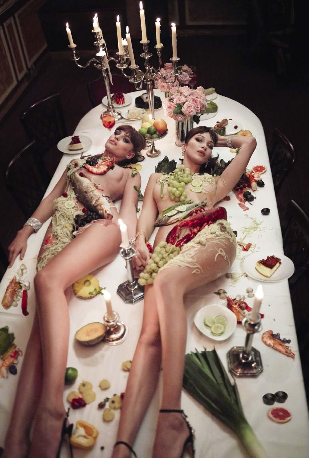 时尚摄影师组合 Mert & Marcus时尚摄影:Vogue杂志意大利版2017年11月刊《庆祝问题》,模特 ANJA RUBIK, ANNA EWERS, AUBE JOLICOEUR, BELLA HA......